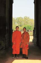 Tourists at the temple complex include monks. Charukesi Ramadurai