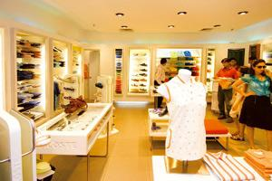 New customers: Luxury brands such as this Lacoste showroom in The Metropolitan mall in Gurgaon have found new customers in an increasingly wealthy middle class that is not afraid to splurge. Harikrish