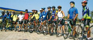 Pedal pushers: The riders with their different cycling styles traversed the Nilgiris on a variety of bikes. Prashanth Kota