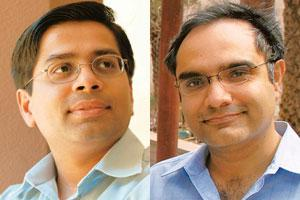 Reflecting slowdown: Harish Gandhi (left), executive director, Canaan Partners, and Suvir Sujan, managing director, Nexus India Capital. Valuations of venture capital deals have dipped over the last
