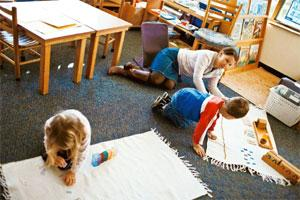 Nurturing creativity: A day care centre subsidized by SAS in Cary, North Carolina. The US software firm, which encourages employees to work 35-hour weeks, is consistently ranked among the best places