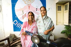 Leadership qualities: Champa Devi Shukla (left) and Rashida Bee are managing trustees of the Chingari Trust that works with children with congenital defects born to survivors of the Bhopal gas tragedy