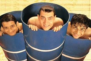Blockbuster: A still from 3 Idiots. Aamir Khan (centre), the male lead, worked closely with executives from Sony Entertainment Television to create special promos for the release of the film on the sm
