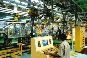 Bright outlook: A Hyundai facility in Chennai. Passenger vehicles sales in India are projected to rise to five million units by 2015 and over nine million by 2020, from 1.95 million now.