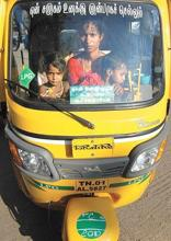 It's a new life: Sureshkumar is one of the 30 women auto drivers in Chennai. G.V. Nathan/Mint