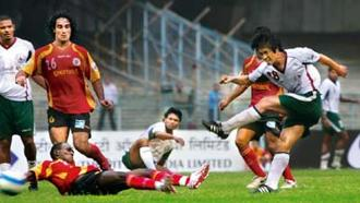 Derby duo: East Bengal (in red) and Mohun Bagan are fierce