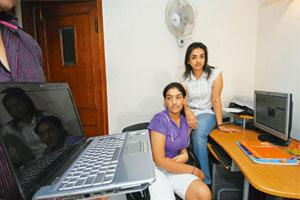 Work and play: Stuti Sukhani, 12, with her mother, Anu, in her study room. Most of the research for her homework is done online. Priyanka Parashar/Mint