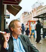 1980s' man: Martin Amis, who wrote Night Train, a bleak noir story.