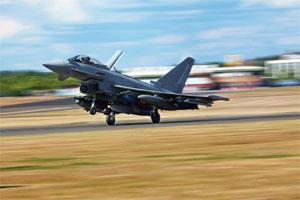 Jet, set, go: A file photo of Eurofighter Typhoon. Dassault's Rafale and EADS' Eurofighter Typhoon are two contenders for the MMRCA deal. Photo: Chris Ratcliffe/Bloomberg