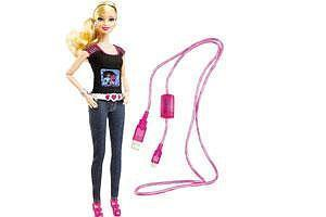 Barbie can shoot: A Barbie Photo Fashion Doll takes and displays pictures.(Mattel via NYT)
