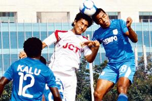 Head-on: The I-League title stays with a Goan team, Dempo. By Manoj Kumar/Hindustan Times