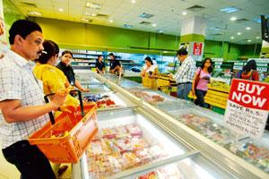 Demand push: A file photo of a Spencer's store in Kolkata. Noticing a surge in the sales of international cuisine, the retail chain decided to take 220 popular recipes, list the ingredients that went
