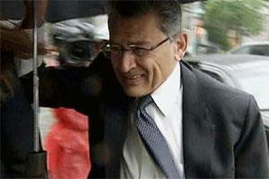 Rajat Gupta arrives at federal court in New York for the hearing on the insider-trading case. Bloomberg