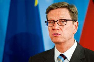 Greater cooperation: German foreign minister Guido Westerwelle. Photo: AFP