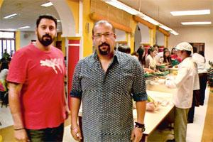 Foodie nation: Rocky (right) and Mayur from HOMP Adda.