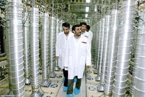 A file photo of Iranian President Mahmoud Ahmadinejad visiting the Natanz uranium enrichment facilities . Photo: HO/AFP/Getty Images