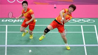 Chinese pair of Yu Yang (left) and Wang Xiaoli were among the four doubles teams that were disqualified from the London Games after trying to lose matches to receive a more favorable place in the tournament. Photo: London 2012
