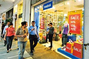 Triggering review: A file photo of a Reebok showroom in New Delhi. Ministry officials say the move was prompted by the recent case involving Reebok India, a subsidiary of global sportswear maker Adida