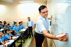 Star status: The average annual salary of a teacher is in the range of Rs 18-30 lakh. Photograph: Pradeep Gaur/Mint