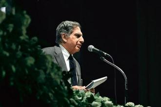 Ratan Tata at Tata Steel Ltd's annual general meeting in Mumbai in August. Photo: Dhiraj Singh/Bloomberg