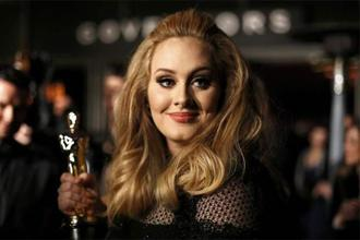 Singer Adele, winner of the Oscar for best original song for 'Skyfall', at the 85th Academy Awards in Hollywood, California. Photo: Reuters