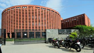 A file photo of the TCS office in Noida. Photo: Priyanka Parashar/MInt
