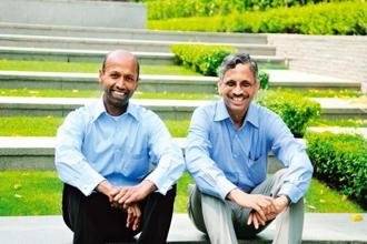 Radjou (left) and Kaipa say the entire ecosystem should benefit from your actions. Photo: Priyanka Parashar/Mint