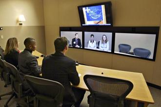 According to Frost and Sullivan, the video conferencing market in India is expected to grow by 14% from 2013 to 2017. Photo: Bloomberg