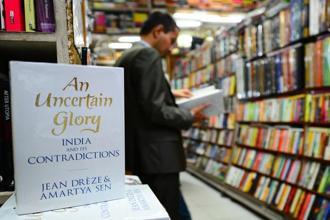 According to Flipkart, Amartya Sen's book is selling about 150 copies each day since the brouhaha started, a significantly higher number than the initial figures. Photo: Priyanka Parashar/Mint