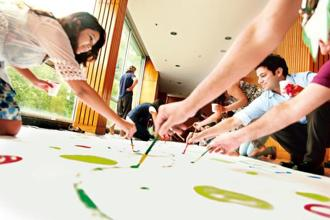 A scene from an illustration masterclass from Jumpstart 2012. Photo: Vivek Singh