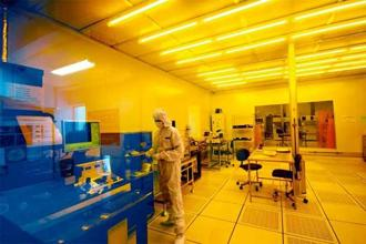 A view of the cleanroom facility which is spread over 14,000 sq. ft at the National Nanofabrication Centre. Photo: Aniruddha Chowdhury/Mint