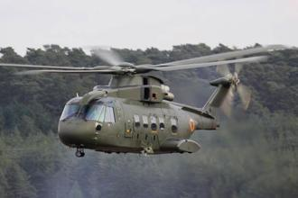 A file photo of AW-101 helicopters from the Italian firm Finmeccanica.