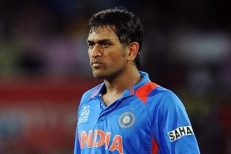 Indian cricket team captain Mahendra Singh Dhoni. Photo: AFP