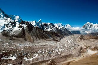 An aerial photograph of the Himalayas. Photo: Paula Bronstein/Getty Images