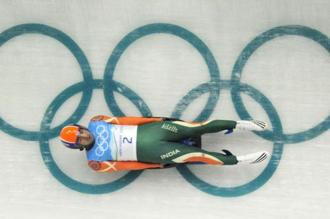 The IOA's decision will mean that Shiva Keshavan and three other competitors will be classed as independents, not as Indians. Photo: AFP
