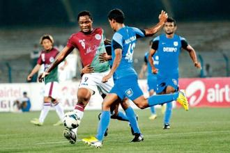 Mohun Bagan and Dempo (in blue) haven't done well lately. Photo: Subhankar Chakraborty/Hindustan Times