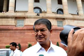 A file photo of Harish Rawat. Photo: Hindustan Times