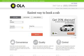 The Ola Mini service has 250 cars in Bangalore that can be booked online, through a mobile app or by phone.