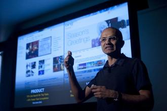 "A file photo of Satya Nadella. When people like Nadella emphasize so much on ""goodness"", it freaks me out a little. Nonetheless, I wish him all the best on his new posting. Photo: Bloomberg"
