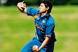 Kuldeep Yadav is the go-to bowler for the India U-19 captain. Photo: Ian Hitchcock/Getty Images