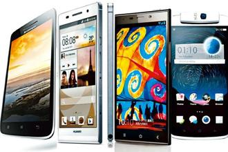 (From left) Lenovo Vibe X, Huawei Ascend P6, Gionee Elife E7 and Oppo N1