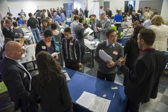 The drop in the unemployment rate from March's 6.7% came as the agency's survey of households showed the labor force shrank by more the 800,000 in April. Photo: Bloomberg