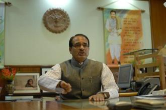 Madhya Pradesh chief minister Shivraj Singh Chouhan declined to delve into reasons behind Congress' loss and said that the BJP won elections on the development plank. Photo: HT