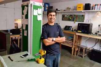 Vaibhav Chhabra of Maker's Asylum in Mumbai. Photo: Abhijit Bhatlekar/Mint