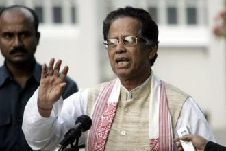 Chief minister Tarun Gogoi of the Congress party formed his first government in Assam in 2001, in an alliance with the Bodoland People's Front (BPF). Photo: AFP