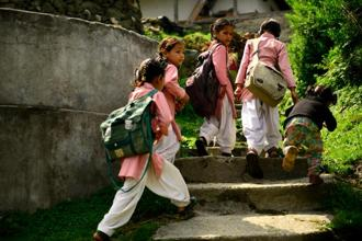 The finance minister pegged an allocation of <span class='WebRupee'>Rs.</span>28,635 crore for the Sarva Shiksha Abhiyan, the main vehicle for implementing the Right to Education. Photo: Pradeep Gaur/Mint