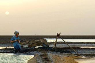 A salt worker featured in Pacha's film, which is already a film festival favourite.