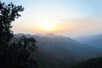 A view of the sunset from Lal Tibba. Photo: Shruthi Rao