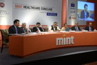 The expert panel of the Mint Healthcare Conclave.