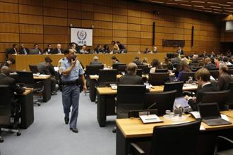 A general view shows the International Atomic Energy Agency (IAEA) board of governors' meeting at the International Center in Vienna. Photo: AFP